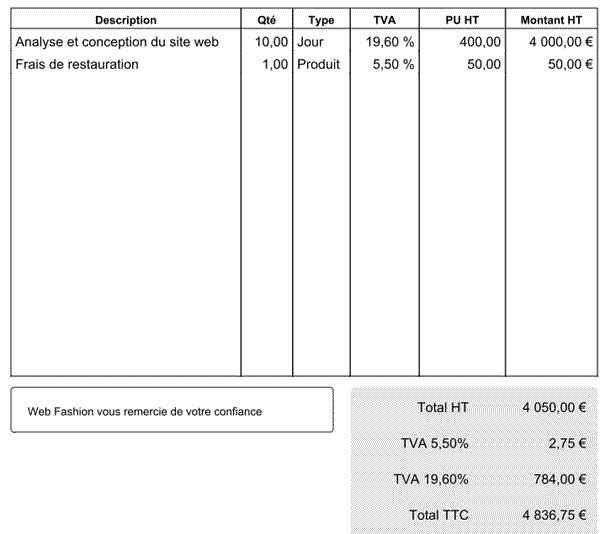 Blog   Plusieurs taux de TVA dans une même facture